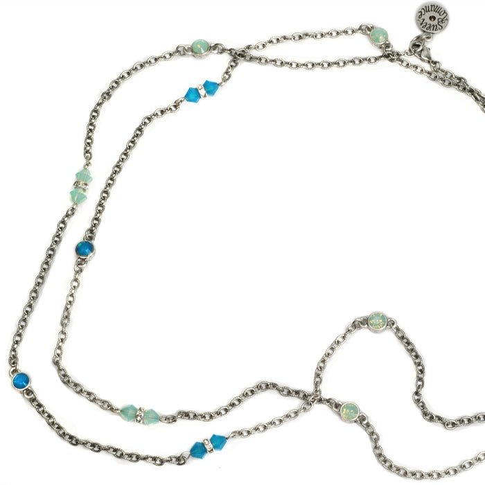 Crystal Sparkle Chain Necklace N1153-CB