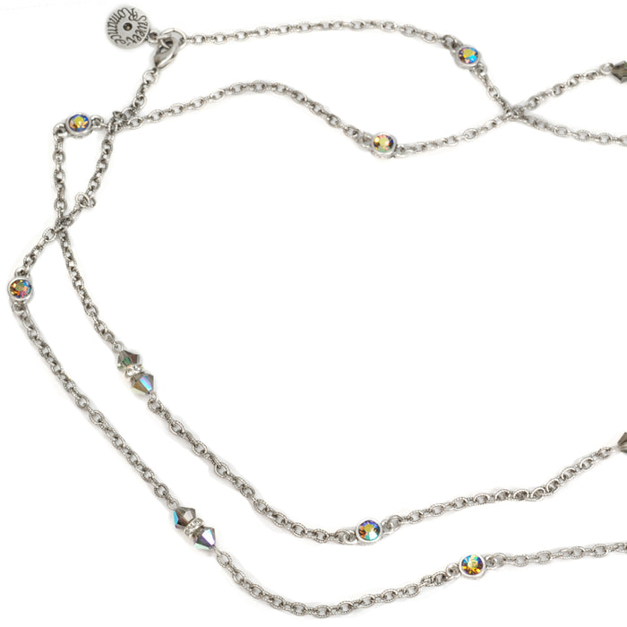 Crystal Sparkle Chain Necklace N1153