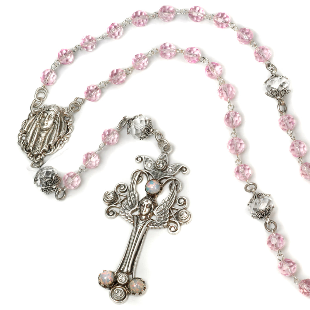 French Angel Rosary N1169