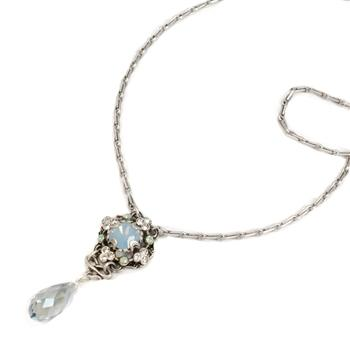 Square & Teardrop Crystal Necklace - sweetromanceonlinejewelry