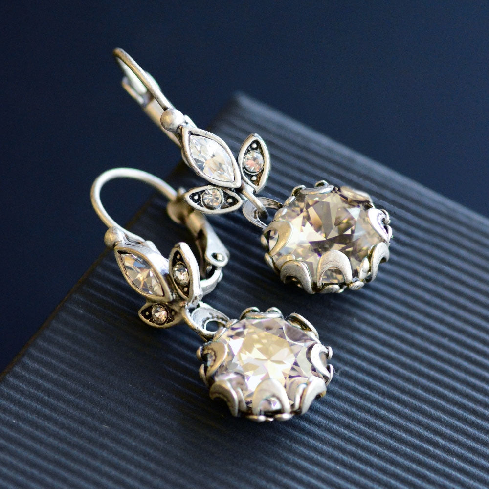 Cushion Cut Jewel Necklace and Earrings N1173E1182SET - sweetromanceonlinejewelry