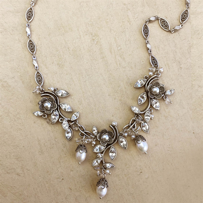D'Vine Marquise Necklace Silver