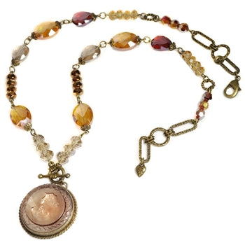 Topaz Intaglio Necklace