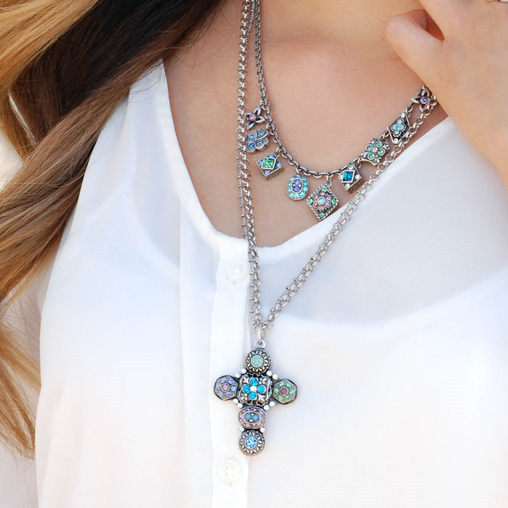 Etheria Cross Necklace N1214-ET - sweetromanceonlinejewelry
