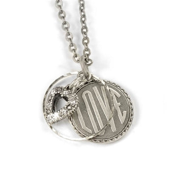 Love Coin Pendant Necklace N1240
