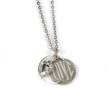 Love Coin Pendant Necklace N1240 - sweetromanceonlinejewelry