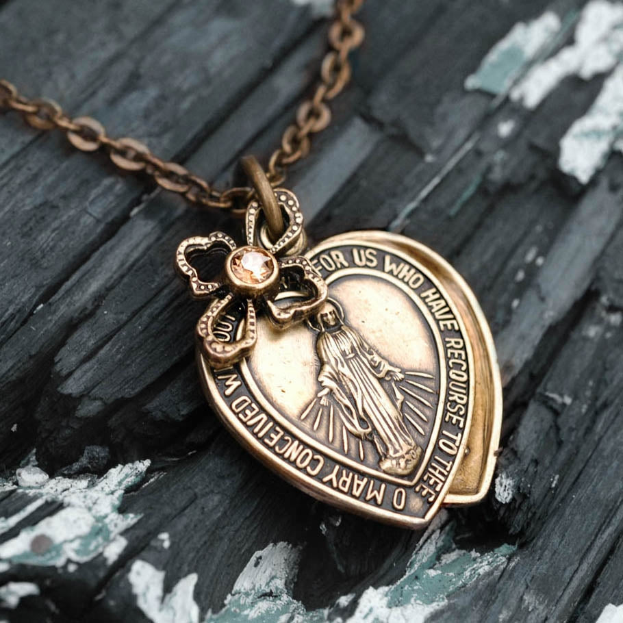 Lord's Prayer Pendant Necklace N1242 - sweetromanceonlinejewelry