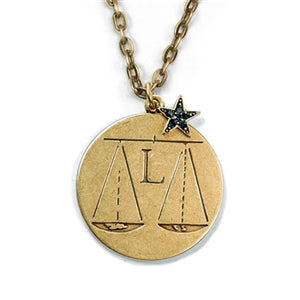 Retro Zodiac Coin Pendant Necklaces N1245