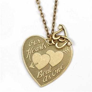 Our Hearts Beat as One Pendant Necklace N1248 - sweetromanceonlinejewelry