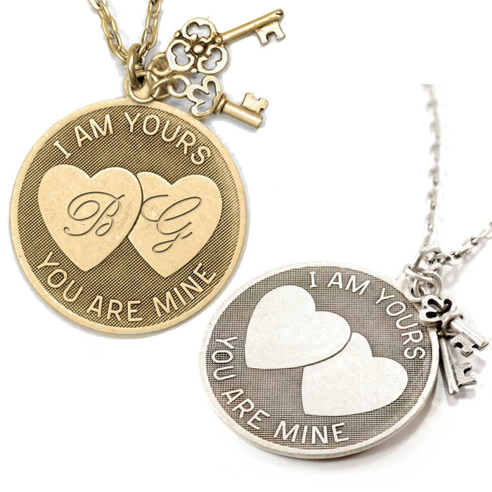 I am Yours, You are Mine Pendant Necklace N1250 - sweetromanceonlinejewelry