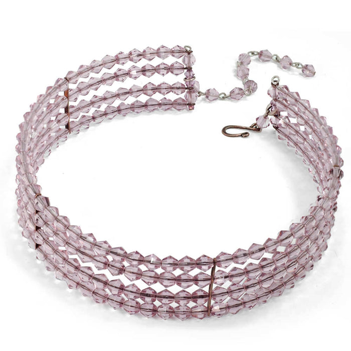 Beaded Choker Necklace N126-AM