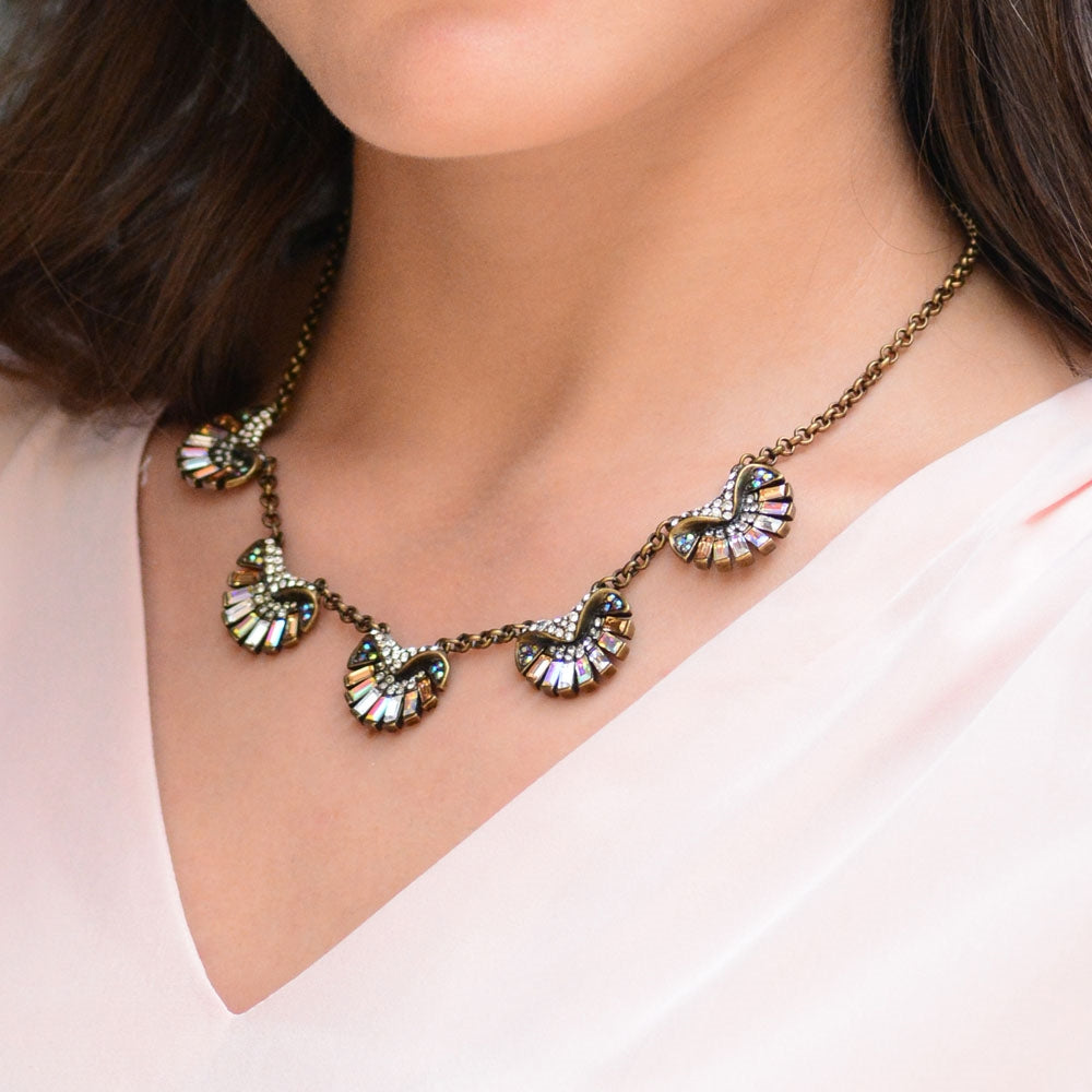 Art Deco Aurora Scallop Shell Ocean Necklace