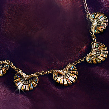 Art Deco Aurora Scallop Shell Ocean Necklace N1267