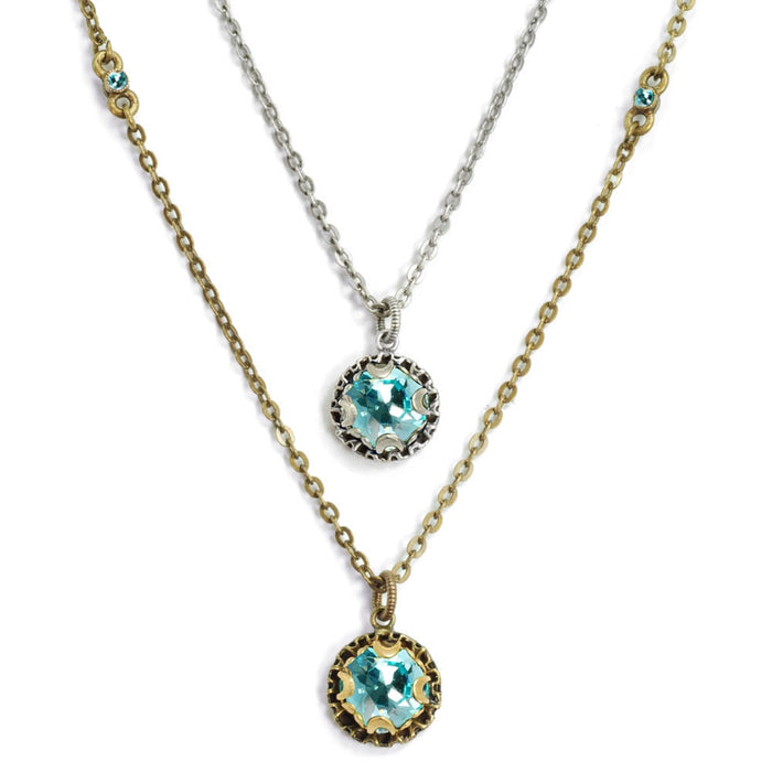 Crystal Dot Necklace N1297-BZ-LT