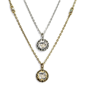 Crystal Dot Necklace N1297 - sweetromanceonlinejewelry