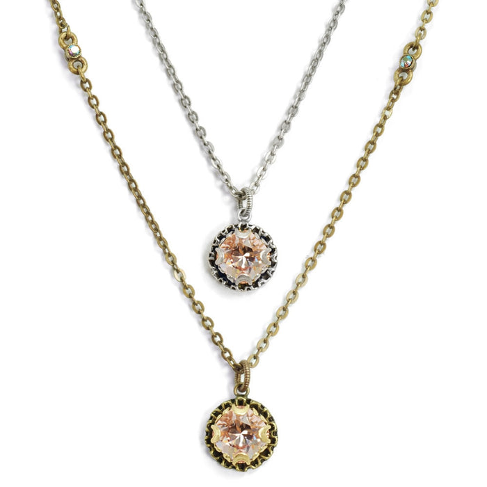 Crystal Dot Necklace N1297-BZ-VR