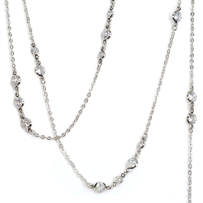 Just Like Diamonds Layering Necklace N1306 - sweetromanceonlinejewelry