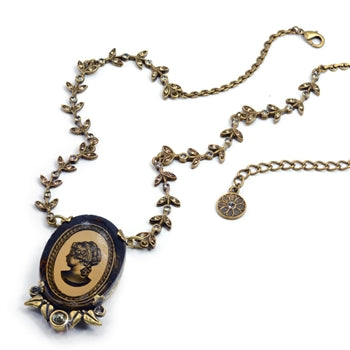 Vintage Classical Cameo Necklace N1310-BZ - sweetromanceonlinejewelry