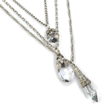 3 Strand Prism Necklace N1313 - sweetromanceonlinejewelry