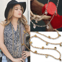 Load image into Gallery viewer, Heart Charm Figaro Layering Necklace N1315