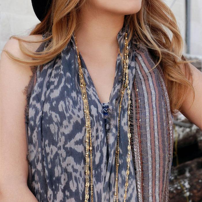 Get this Look: Bronze Layering Necklace Jewelry Set - sweetromanceonlinejewelry