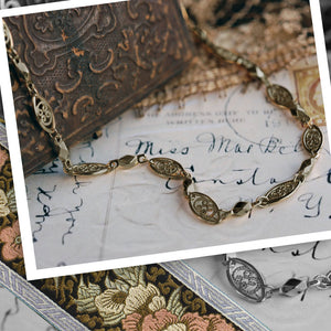 Marquis Filigree Layering Necklace N1317