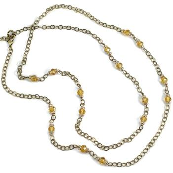 Crystal Beaded Necklace N1325 - sweetromanceonlinejewelry