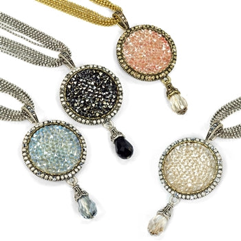 Druzy Pendant Necklace N1331