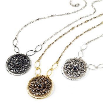 Window to the Soul Vintage Medallion Necklace N1338
