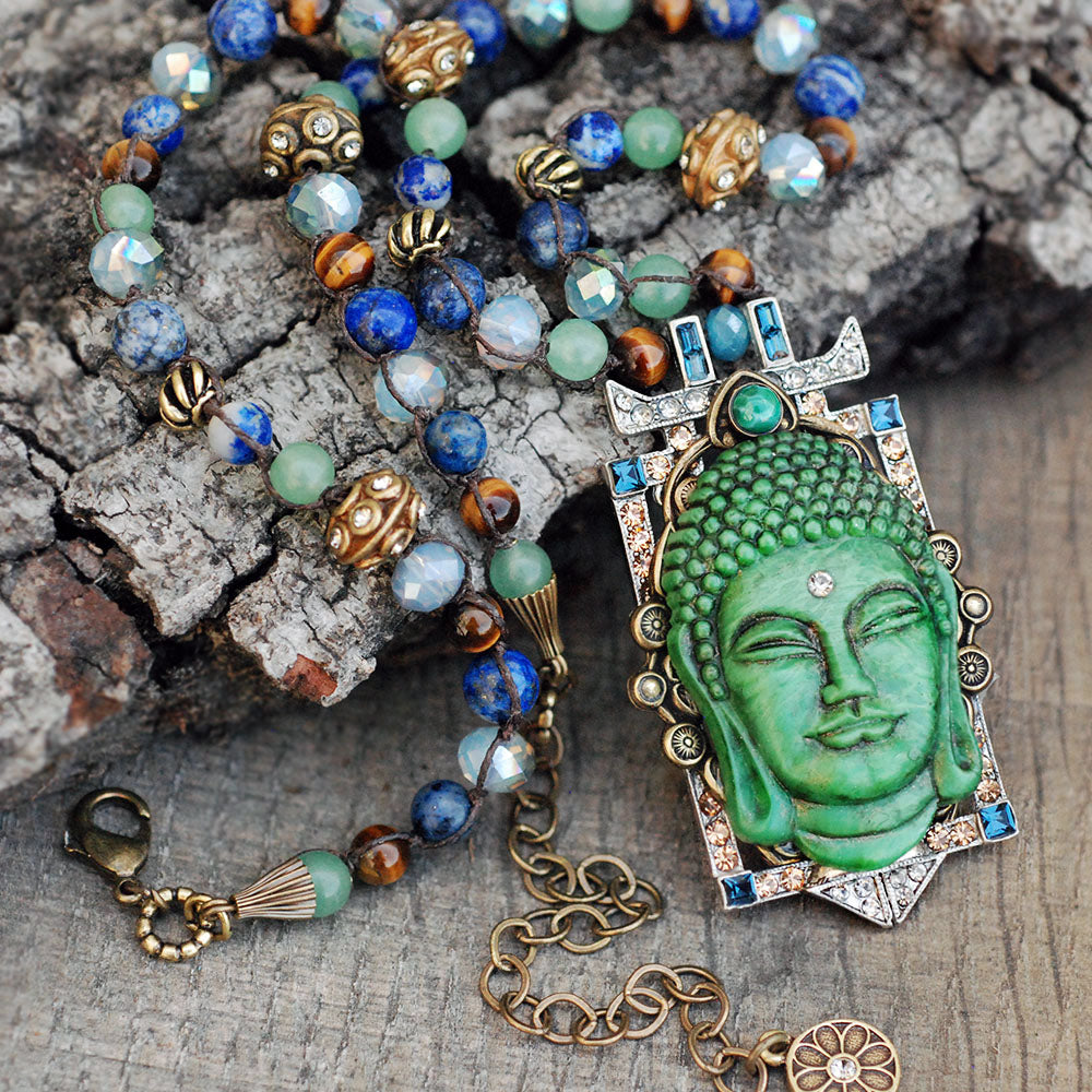 Tranquility Vintage Buddha Necklace N1346