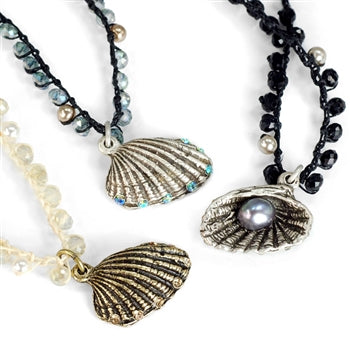 Hermosa Beach beads Seashell Necklace N1367 - sweetromanceonlinejewelry