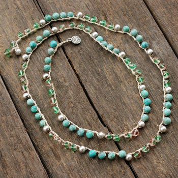 Beach Gemstone Boho Necklace N1368