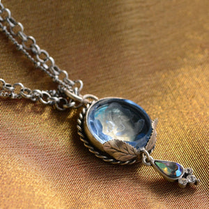 Akantha Long Glass Intaglio Necklace