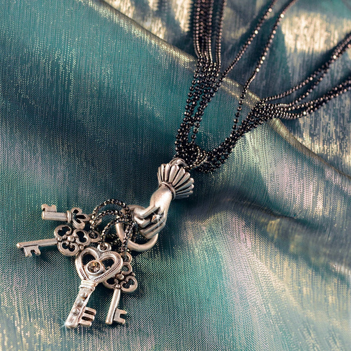 Keys to Secret Places Necklace N1046 - sweetromanceonlinejewelry