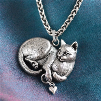 Cheshire Cat Sculpture Pedant Necklace N1439