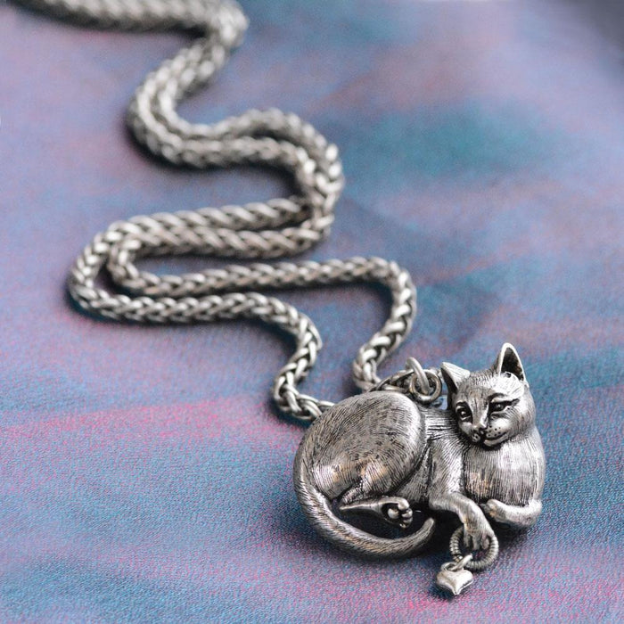 Cheshire Cat Sculpture Pedant Necklace N1439 - sweetromanceonlinejewelry