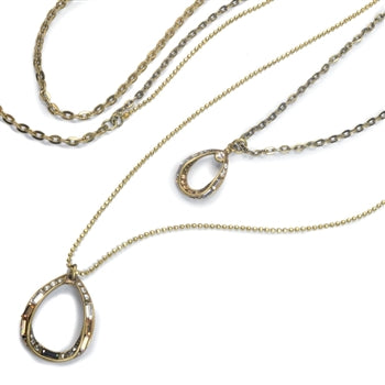 Deco Loop 2 Tier Necklace N1470 - sweetromanceonlinejewelry