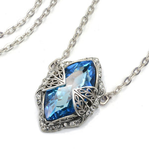 Long Blue Marquise Necklace N1509-BL