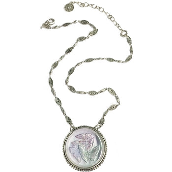 Pastel Butterfly Pendant Necklace