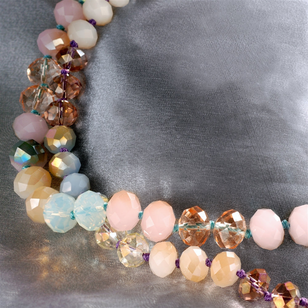 Pastel Sorbet Bead Necklace N1540 - sweetromanceonlinejewelry