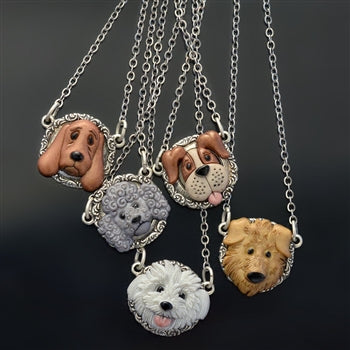 Dog Lover Necklaces N1543 - sweetromanceonlinejewelry