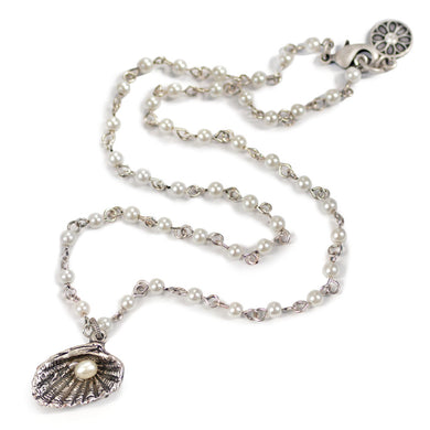 Seashells and Pearls Necklace N1546