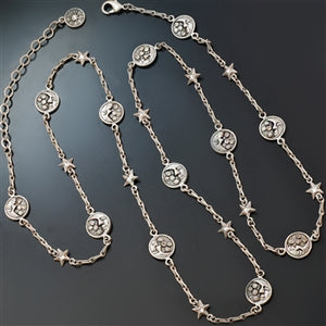Moon and Stars Long Layering Necklace N1555