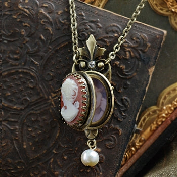 Victoria Cameo Locket - sweetromanceonlinejewelry