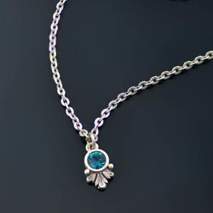 Swarovski Crystal Solitaire Birthstone Pendant Necklace