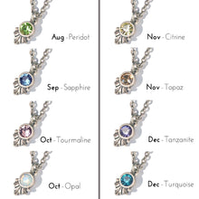 Load image into Gallery viewer, Swarovski Crystal Solitaire Birthstone Pendant Necklace