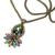 Vintage Opal Glass Pendant Necklace N3156 - sweetromanceonlinejewelry