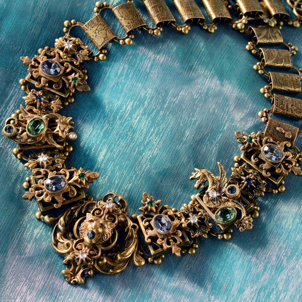 Renaissance Grand Collar Necklace N460 - sweetromanceonlinejewelry