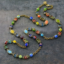 Load image into Gallery viewer, Millefiori Glass Candy Chain Necklace