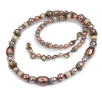 Autumn Pearl Necklace N5016 - sweetromanceonlinejewelry